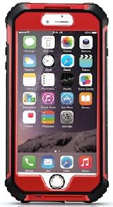 JAMXtreme iPhone 6 Plus/6s Plus Smartphone Waterproof Case - Red - JAMXtreme iPhone 6 Plus/6s Plus Smartphone weatherproof case (Waterproof, Dirt proof, Snow proof, Scratch proof & Shock proof)