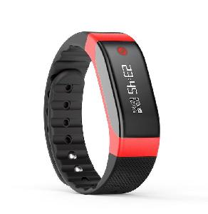 ONYXB3 HRRD Fitness Wristband with Heart rate Monitor - Red